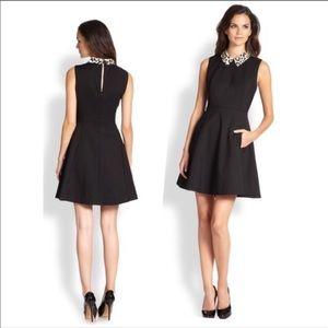 Kate Spade Rissa Fit n Flare Leopard Collar Dress